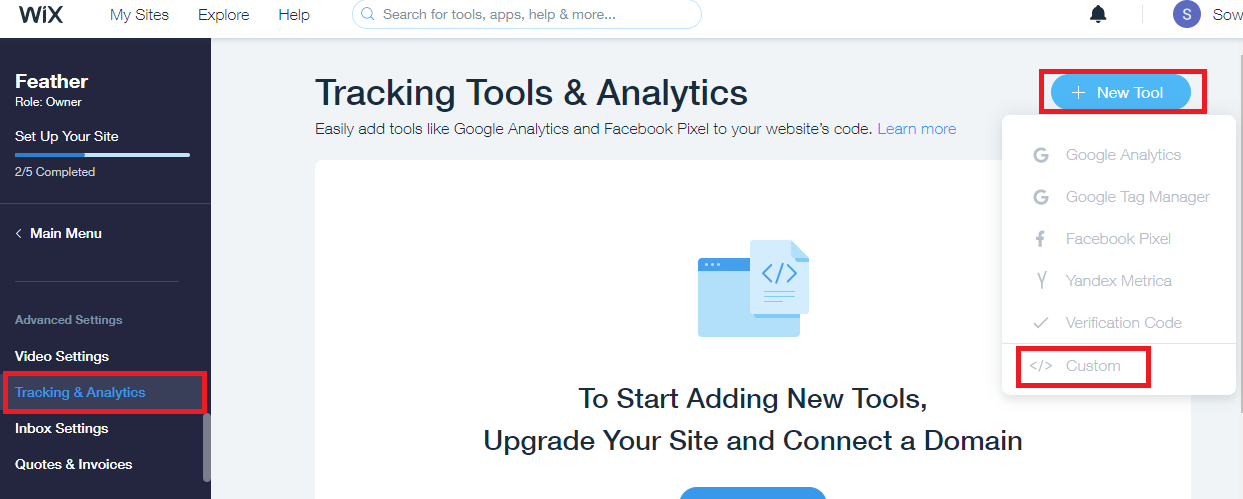 Add new tool for Wix