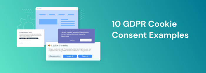 GDPR cookie consent examples