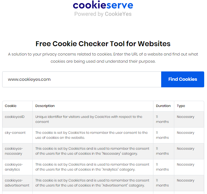 cookie checker