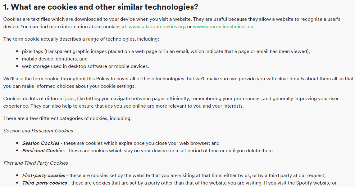 what are cookies - cookie policy