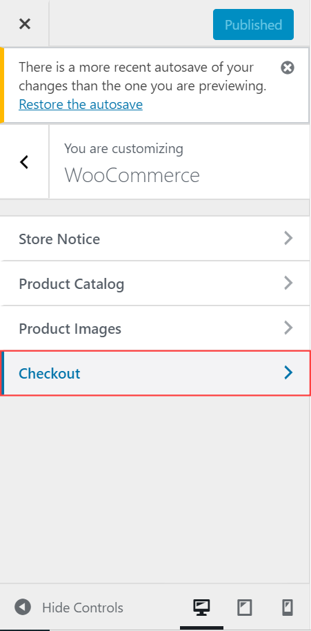 WooCommerce - Appearance - Checkout