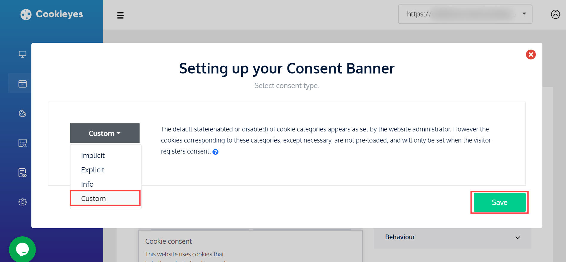 CookieYes - Setting up custom consent banner