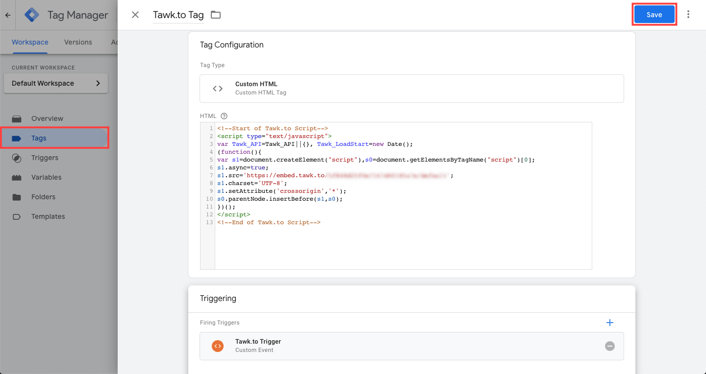Adding custom event trigger to custom HTML tag in GTM