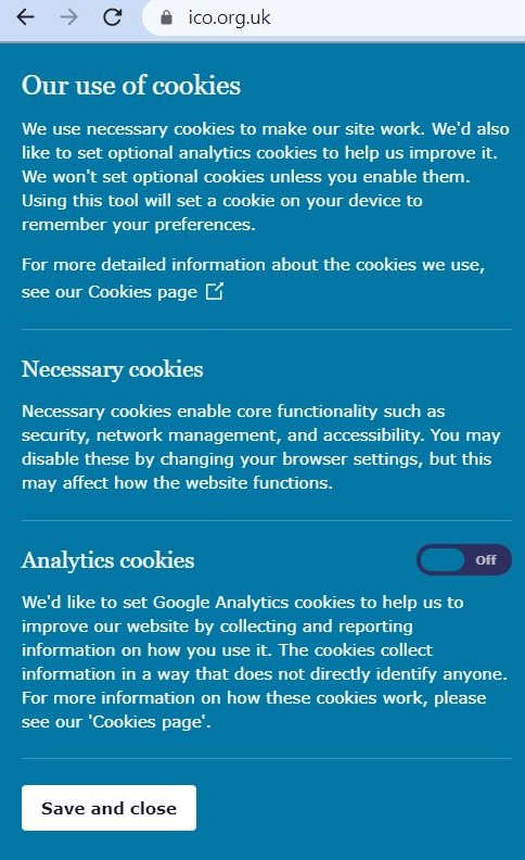 Cookie Consent Banner