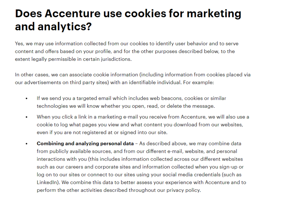 Accenture cookie policy
