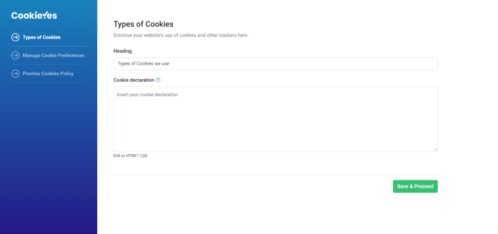 Free Cookie Policy Generator