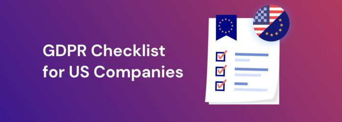 GDPR in the US - Checklist