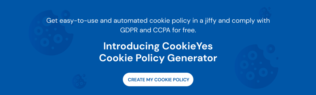 cookieyes cookie policy generator